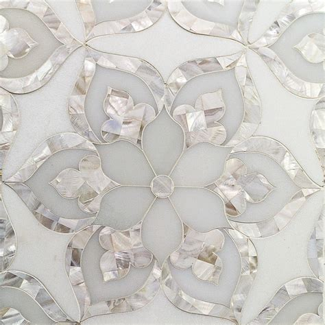Frosted Glass Backsplash In Kitchen by Shop For Aurora With White Thassos Royal White And Pearl
