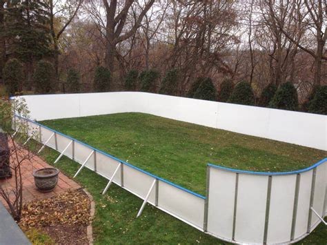 backyard hockey rink kit d1 backyard rinks synthetic ice basement or backyard