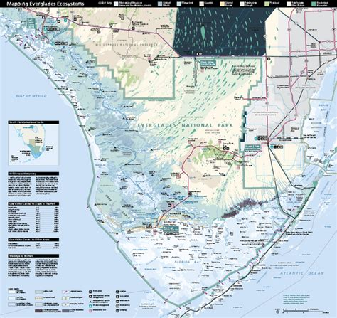 everglades national park map topographic map of everglades national park images