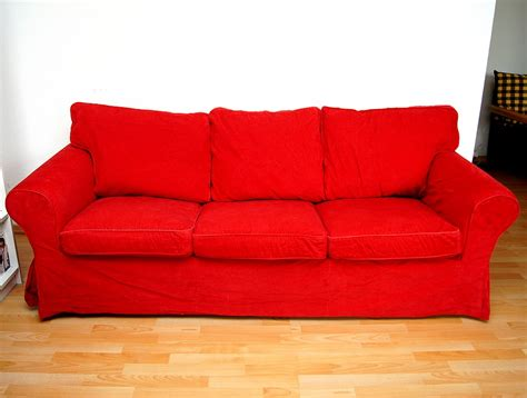 sofa 3er sofa in rot artownit for