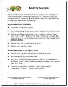 Field Trip Permission Letter by Need A Set Of Field Trip Guidelines Feel Free To Modify For Your Own Class But This Can