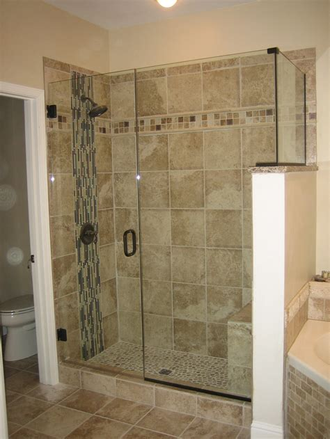 bathroom shower stall tile designs frameless shower one tile too many for my tastes but i
