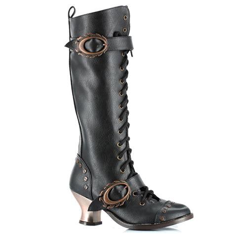 metropolis shoes black vintage steunk boots