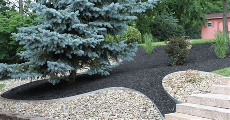 Landscape Rock Mulch How To Make Rock Mulch Look Amazing Planting Yards And
