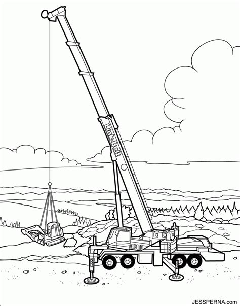 coloring page crane truck crane coloring page coloring home