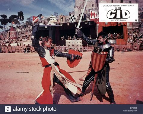 le cid le cid el cid ann 233 e 1961 italy usa charlton heston r 233 alisateur stock photo royalty free image