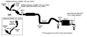 Ford Exhaust System Diagram Ford Taurus Exhaust Diagram From Best Value Auto Parts