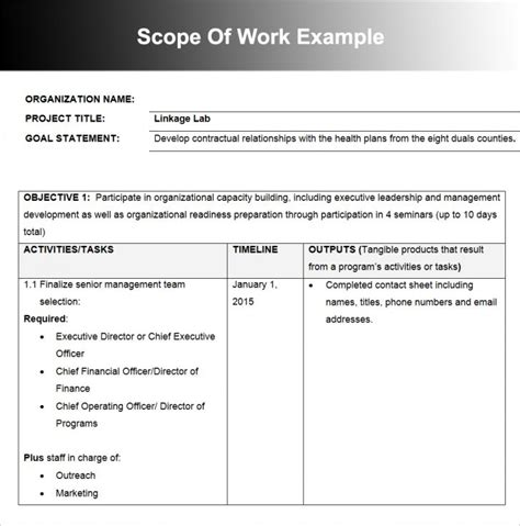 Timeline Templates 6 Project Management Timeline Templates Eight Phase Horizontal Timeline Slide Real Estate Scope Of Work Template