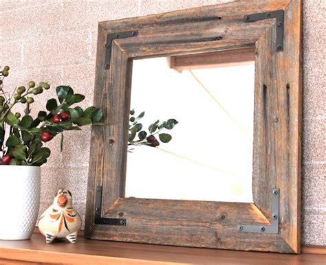 spiegel rustikal ready to ship rustic modern mirror reclaimed wood mirror