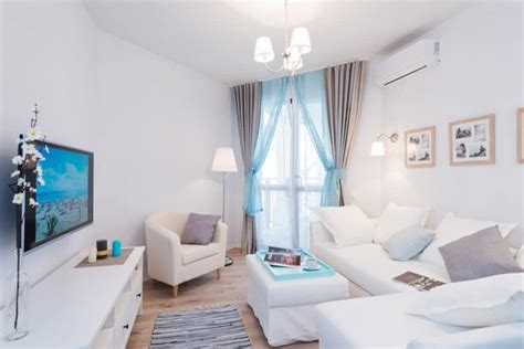 southgate residential blue and white interiors fresh and airy seaside studio apartment home interior