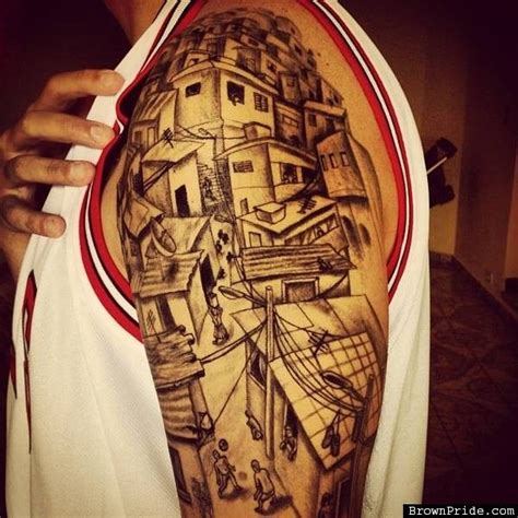 brown pride tattoo designs favela by markone tattoos