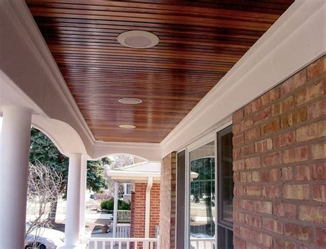 patio ceiling ideas stained bead board ceiling for mud room home bead board ceiling and