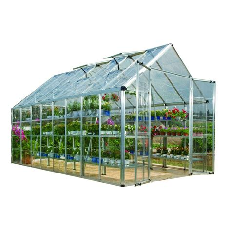 printable greenhouse palram snap and grow 8 ft x 16 ft silver polycarbonate