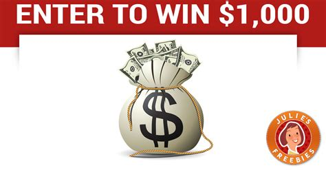 Enter To Win Money - enter to win 1 000 cash julie s freebies