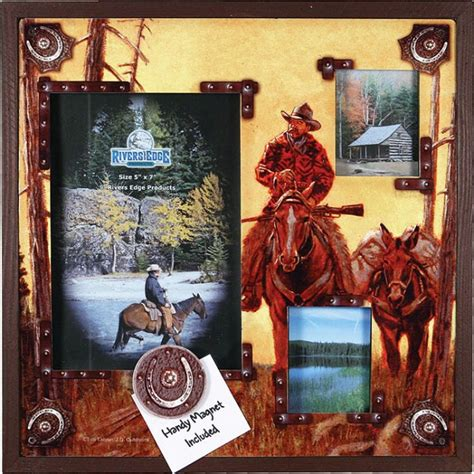 rivers edge home decor rivers edge home decor 3 picture western tin frame