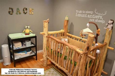 Outdoor Themed Crib Bedding This Baby Crib It Would Match Our Log Cabin Bed And Theme Throughout Our House Oh