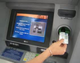 how to draw bank atm