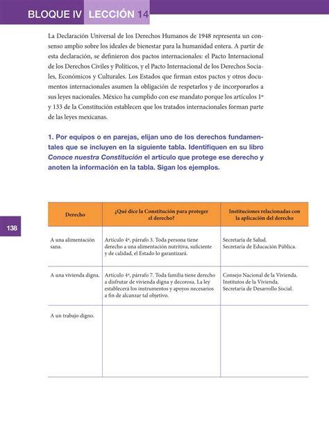 sexto formacin cvica y tica14 bloque 4 derechos y formaci 243 n c 237 vica y 201 tica quinto grado 2016 2017 online