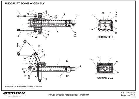 tow truck parts diagram jerr dan lift boom assembly detroit wrecker sales