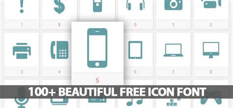 ui design font size 100 beautiful free icon font for interface designers