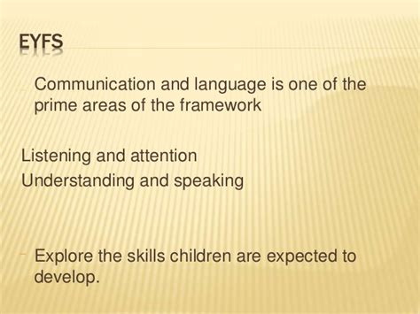 expected pattern of language and communication development unit 8