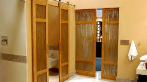 Barn Door Windows Decorating Luxury Bathroom Bamboo Barn Doors With Thatch Resin By Trustile Denver House