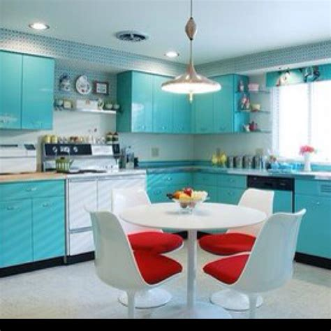 retro style kitchen cabinets modern 50 s style kitchen for the home pinterest