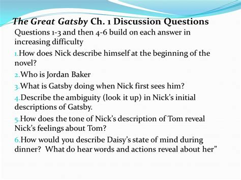 searching for symbolism in the great gatsby answers great gatsby essay questions chapter 1 the great gatsby