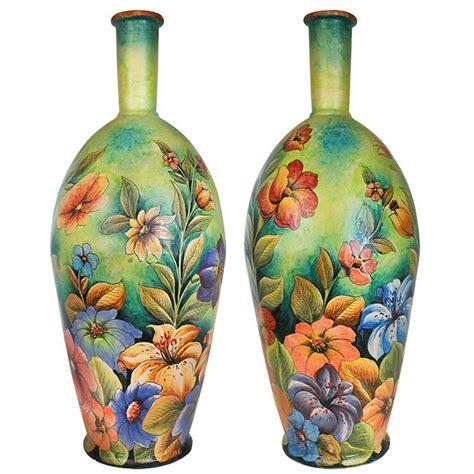 Majolica Vases by Santa Rosa Majolica Tropical Flowersxl Majolica Vase