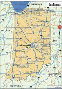 State Map Of Indiana by Winthrop Lora Indiana Map
