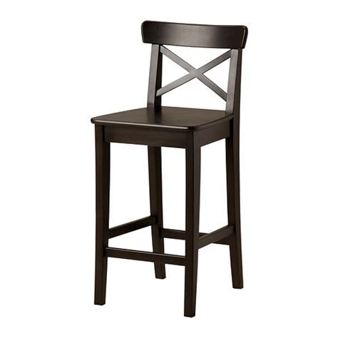 ingolf bar stool with backrest 24 3 4 quot ikea