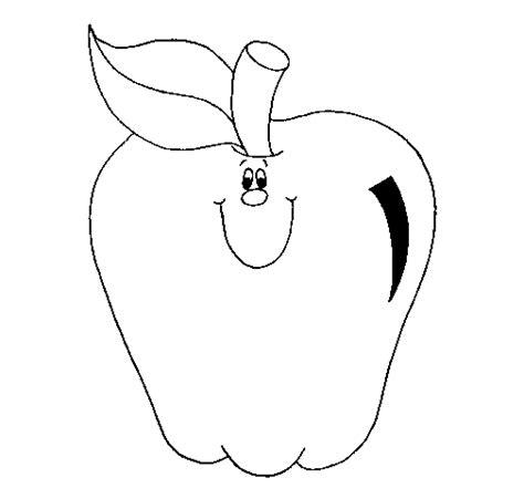 imagenes para colorear una manzana dibujo de manzana 1 para colorear dibujos net