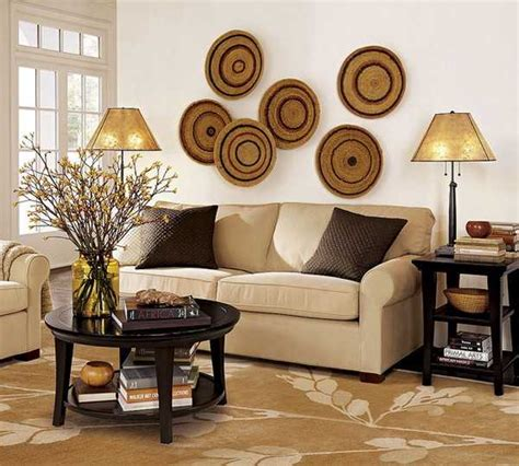 african home decor ideas modern wall decoration with ethnic wicker plates bowls
