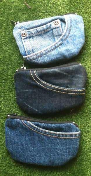 Bag Denim Cantik dompet denim keren yang dibuat dari bekas vemale
