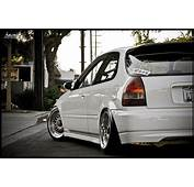 White Honda Civic EK Hatchback On BBS RM  RS Zone