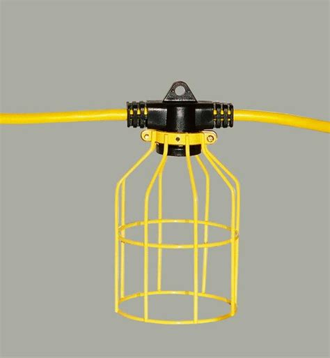 100 Ft Temporary Light String Linkable Metal Guard Tls Temporary Light String
