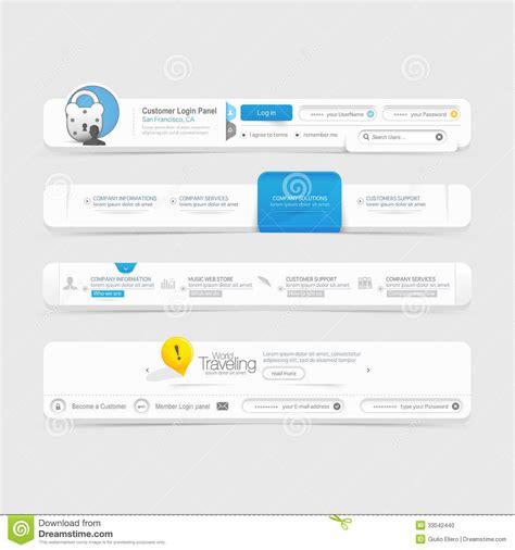 templates for website menu website template design menu navigation elements with
