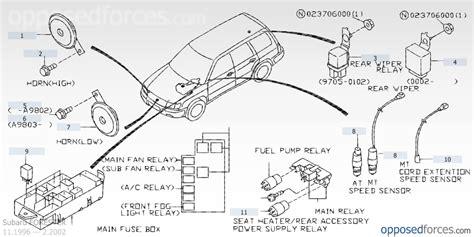 subaru sub fan relay subaru front windshield wiper motor wiring schematic