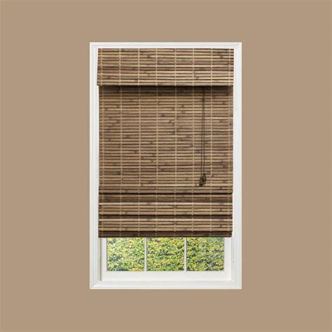 at home l shades radiance capri bamboo roman shade 48 w x 64 l