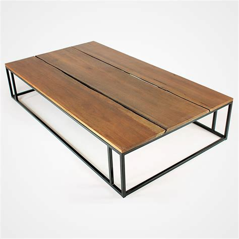 wood and metal reclaimed wood planks and metal base coffee table rotsen