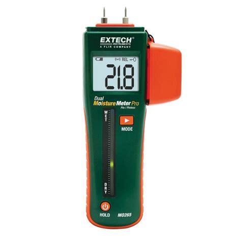 extech instruments combination pin pinless moisture meter mo265 the home depot