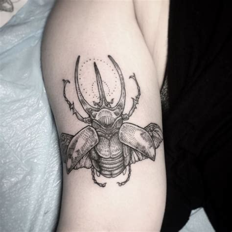 beetle tattoo meaning rhino beetle by at 1001 troubles in