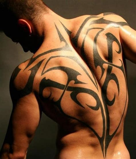 upper back tattoo pain back tribal for busbones