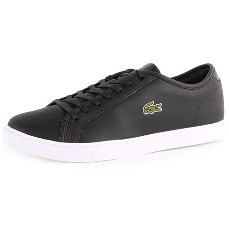 lacoste mens sneakers lacoste showcourt nal mens leather black trainers new