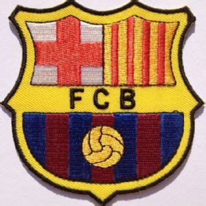 Patch Barcelona fc barcelona embroidered iron on patch barca crest soccer badge football parche toppa aufn 228