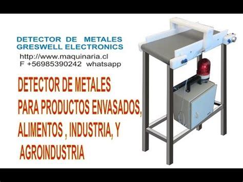 detector de metales alimentos santiago chile youtube