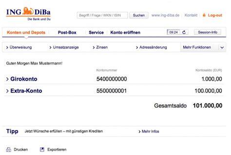 diba bank banking diba banking musterdepot er 246 ffnen