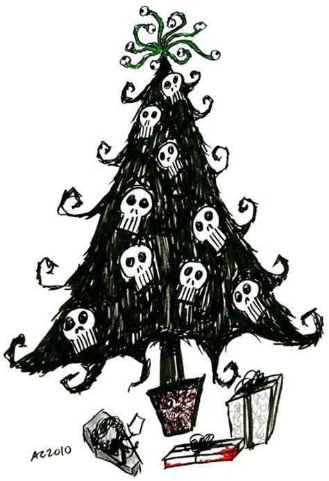 skull decorations burton xmas pinterest trees tim o