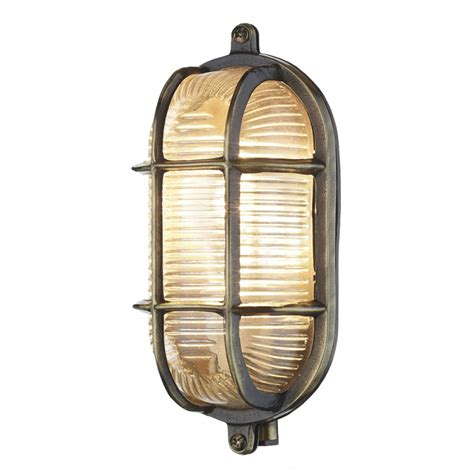 Bulkhead Lights Outdoor David Hunt Adm5275 Admiral Small Oval Outdoor Wall Light In Antique Brass