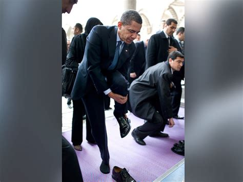 islamic prayer curtain 5 times president obama ditched his shoes overseas abc news